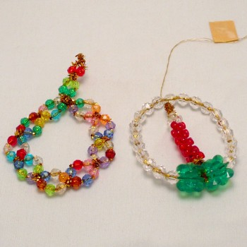Bead Wreath and Candle Ornaments