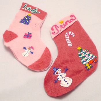 Felt Stocking Ornaments