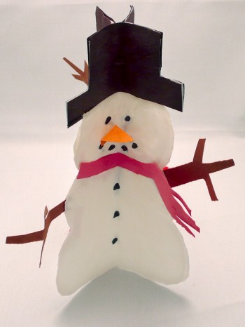 Standing Snowmen Art