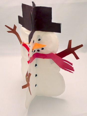 Standing Snowmen Side View