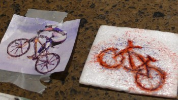 Making Cards - Bike Stamp